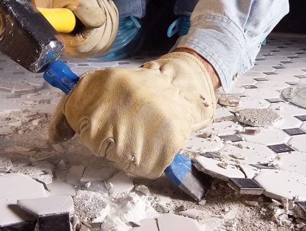 Очистка поверхности и удаление элементов и узлов коммунникации