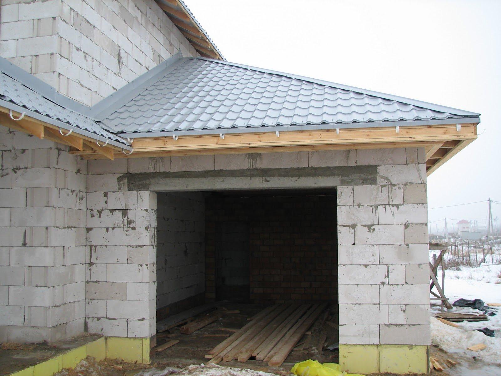 Построить крышу на гараж