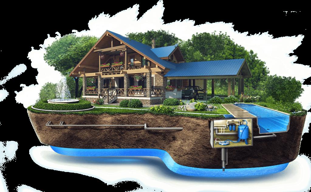 Система водоснабжения коттеджа из скважины