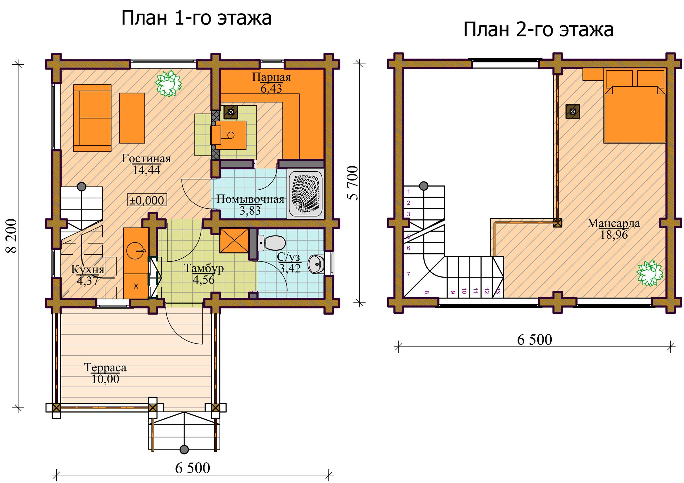 Баня 6х4 планировка фото двухэтажная 8
