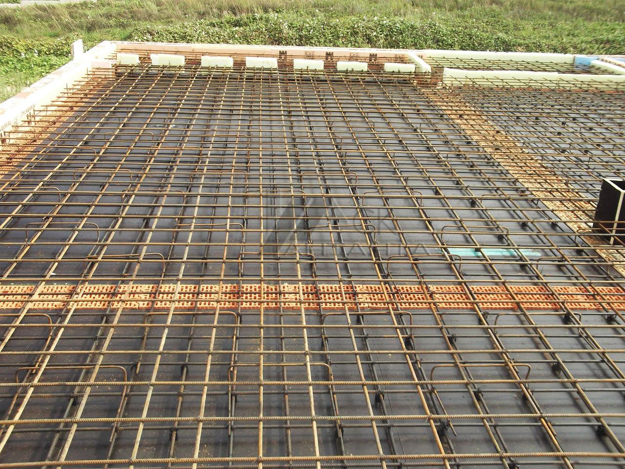перекрытие фундамента монолитная плита